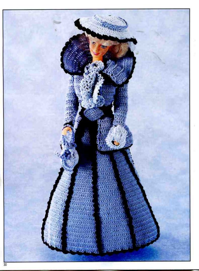 Free crochet patterns for barbie clothes archives crochet kingdom barbie crochet victorian costume dt1010fo