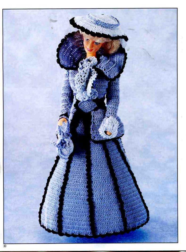 Barbie Crochet Victorian Costume