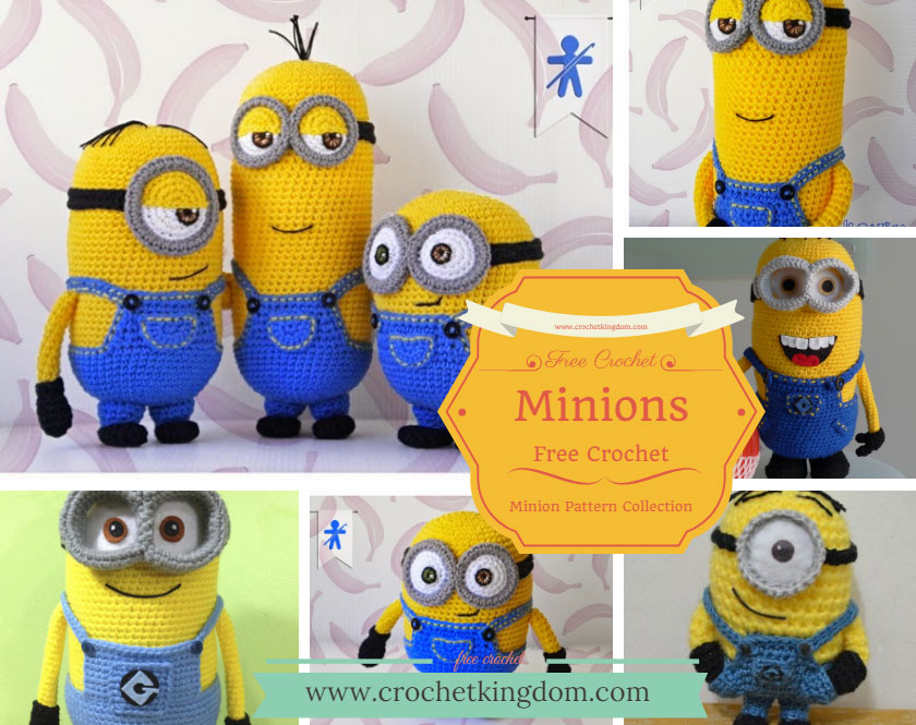 Minion Free Crochet Pattern Collection Ideas You'll Love ⋆ Crochet Interesting Free Minion Crochet Pattern