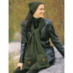 Patons Applique Kerchief & Scarf Free Crochet Pattern