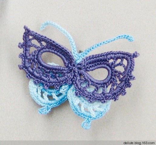 Purple and Blue Crochet Butterfly Pattern