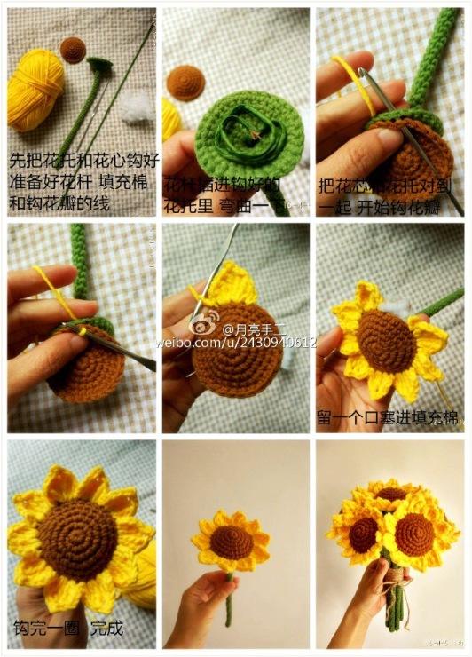 Sunflower Crochet Flower Pattern Crochet Kingdom
