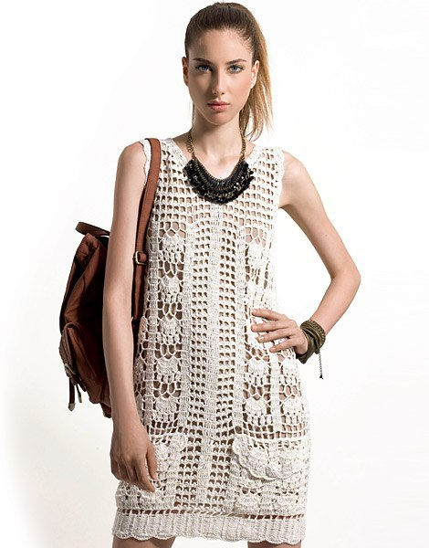 Tank Style Summer Dress Crochet Pattern