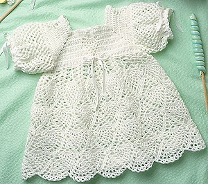 Whipped Cream Baby Dress Free Crochet Pattern