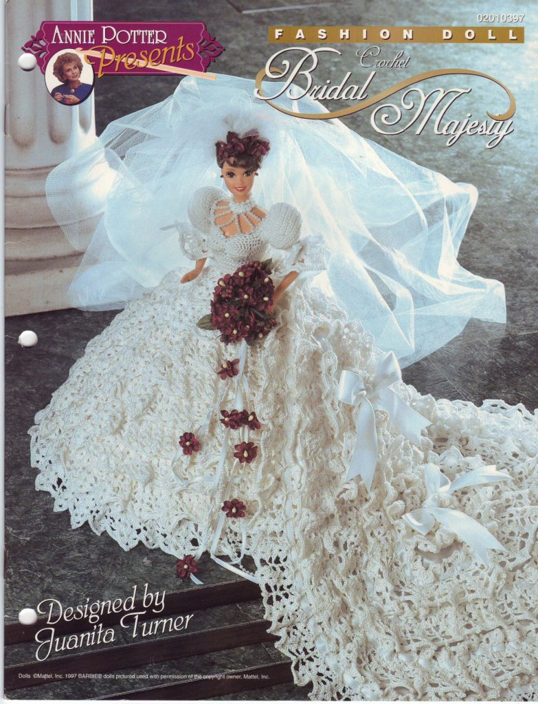 Free crochet patterns for barbie clothes archives for Crochet wedding dress patterns