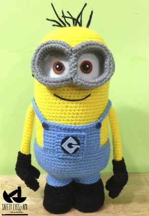 Minion crochet tutorial step-by-step