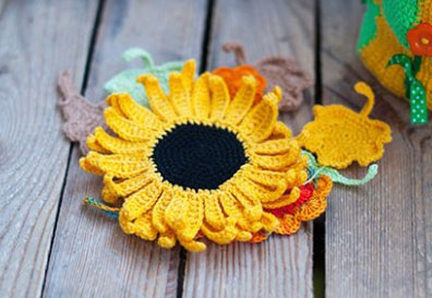 sunflower to crochet