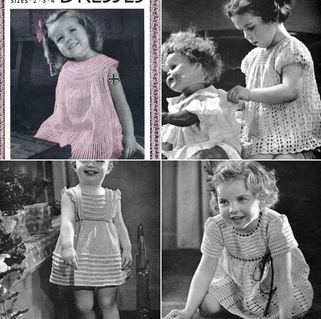 Beautiful Free Vintage Crochet Baby Dresses