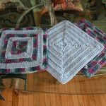 Cat Tracks 12 Inch Crochet Square Free Pattern