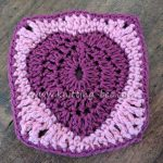 Heart in a Granny Square Crochet Free Step by Step Tutorial