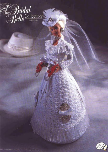 Free crochet patterns for barbie clothes archives crochet kingdom july barbie bridal crochet dress pattern dt1010fo