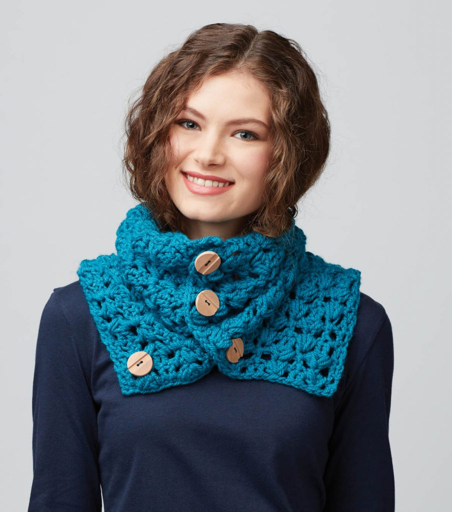 Barley Stitch Cowl Free Crochet Pattern