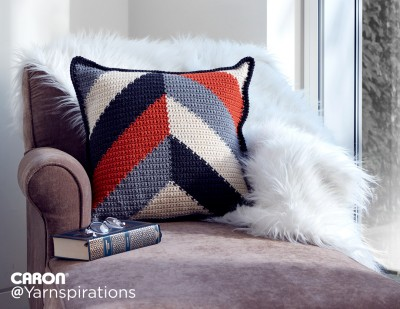 Bold Angles Crochet Pillow Free Pattern