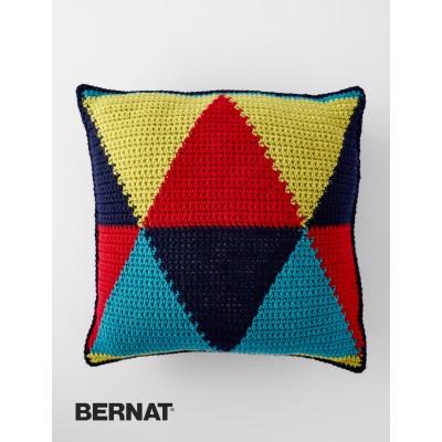 Bold Angles Pillow Free Crochet Pattern