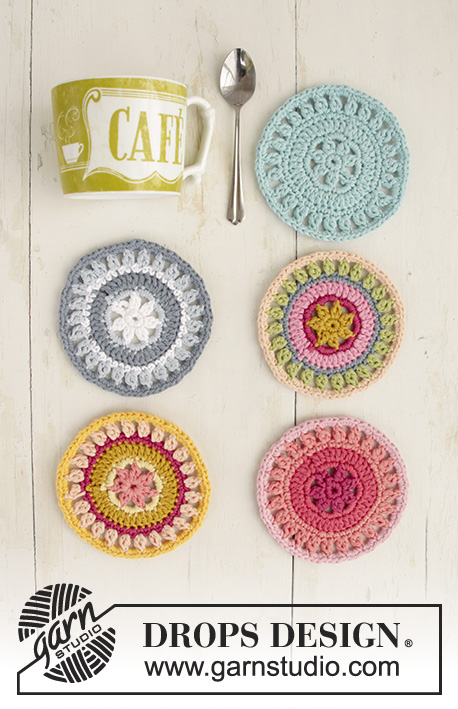 Breakfast Flavours Free Crochet Pattern Coaster