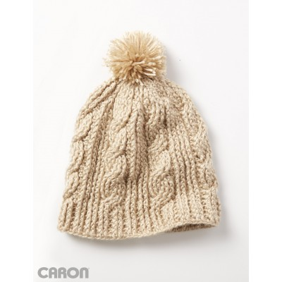 Caron Cable Twist Hat Free Crochet Pattern