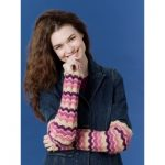 Caron Zig Zag Arm Warmers Free Crochet Pattern