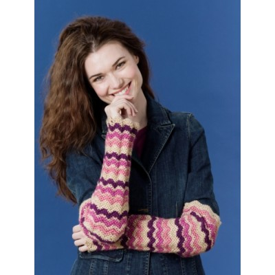 Caron Zig Zag Arm Warmers Free Crochet Pattern