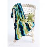 Chevron Stripes Crochet Baby Blanket