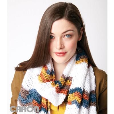 Chevron Stripes Crochet Scarf Free Pattern
