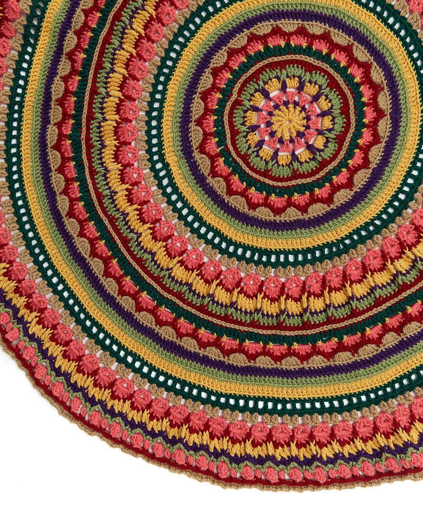 Circular Fall Mandala Throw Free Crochet Pattern