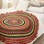 Circular Fall Mandala Throw Free Crochet Pattern