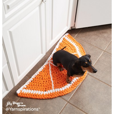 Citrus Slice Crochet Rug Free Pattern