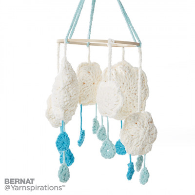 Cloudy Day Crochet Mobile for Baby Free Pattern