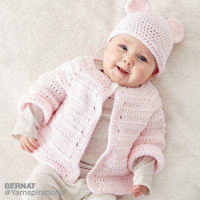 Crochet Baby Jacket Set Free Pattern