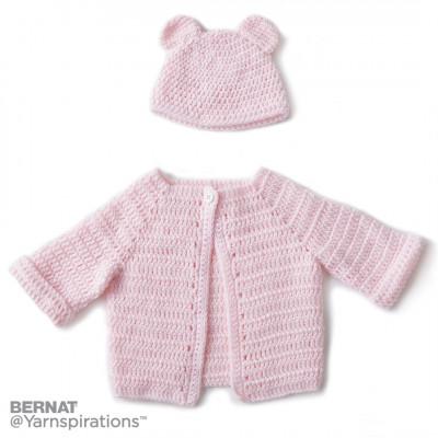 Crochet Baby Jacket Set Free Pattern