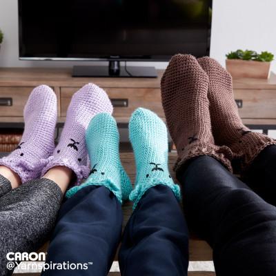 Crochet Bear Feet Slipper Socks Free Pattern
