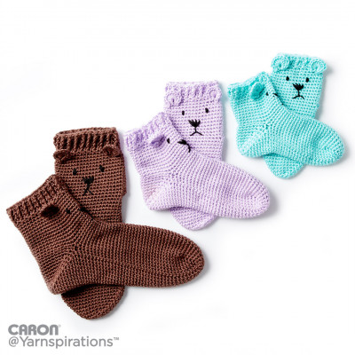 Crochet Bear Feet Slipper Socks Free Pattern