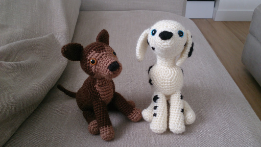 Dalmatian And German Shepherd Free Amigurumi Dog Crochet Pattern