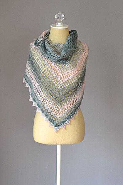 Dewdrops Shawl Free Crochet Pattern