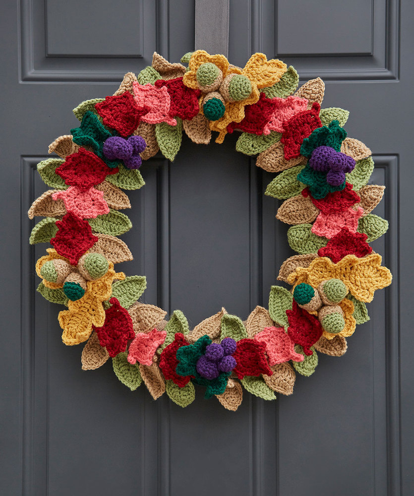 Fabulous Fall Wreath Free Crochet Pattern