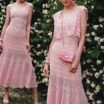 Long Pink Lace Crochet Dress and Shrug Pattern
