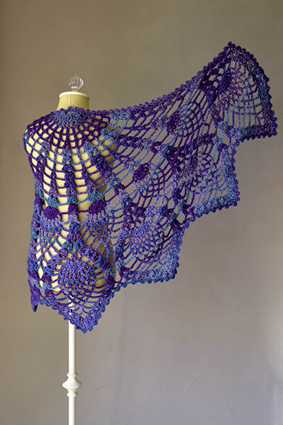 Free Pineapple Stitch Shawl Crochet Pattern Archives Crochet