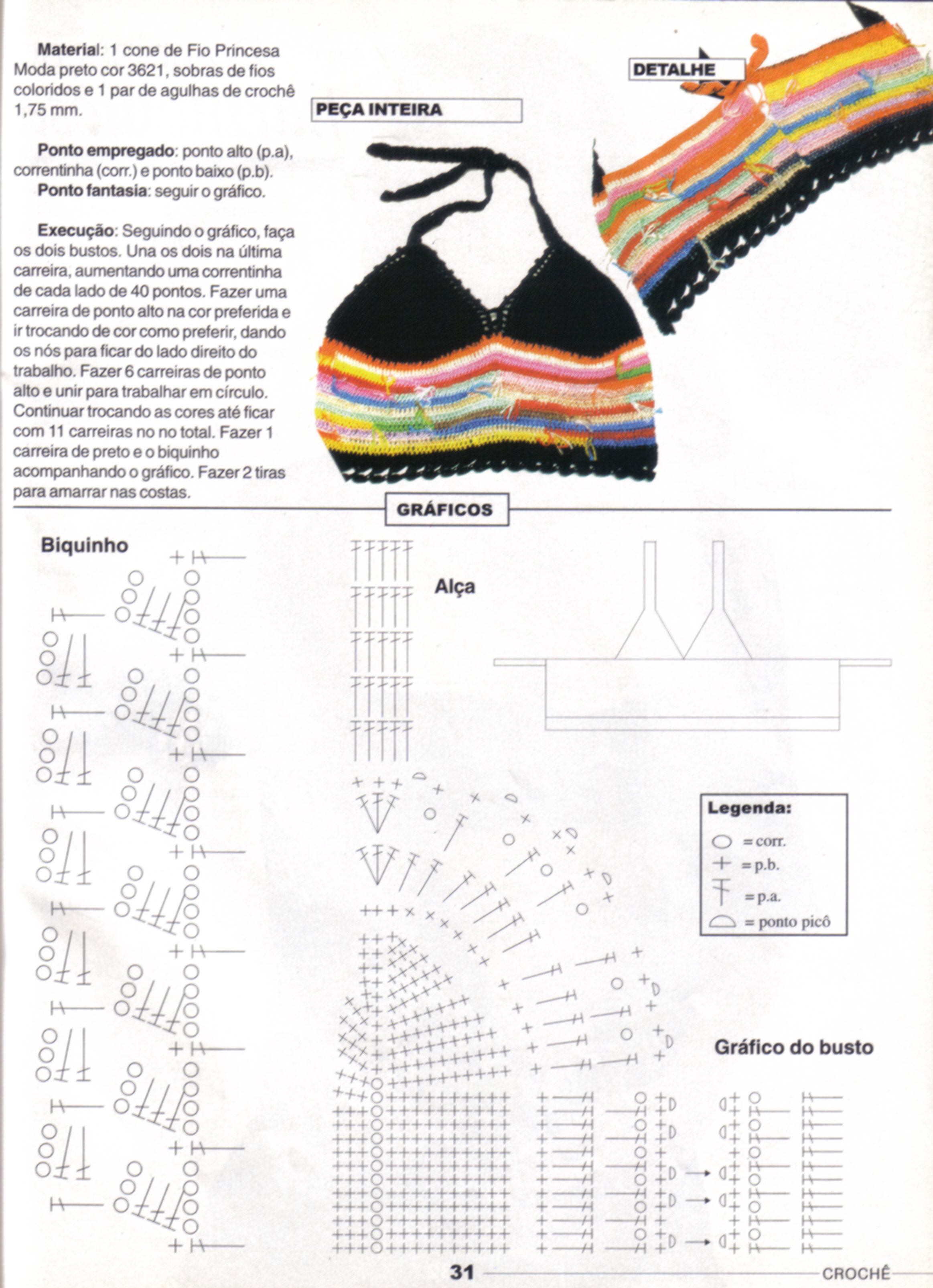 Bikini Styled Halter Top Free Crochet Pattern
