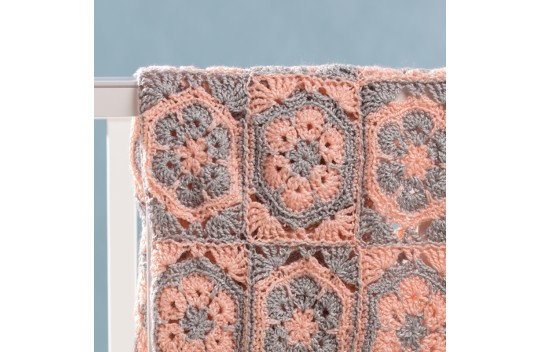 Two Color Fowler in a Square Stroller Blanket Free Crochet Pattern ...