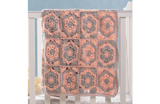 Two Color Fowler in a Square Stroller Blanket Free Crochet Pattern
