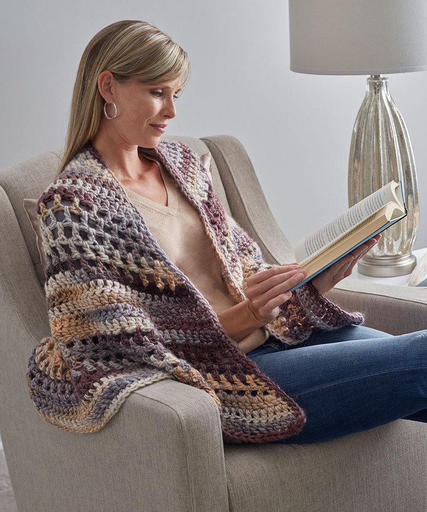Wrap-ture Crocheted Shawl Free Pattern