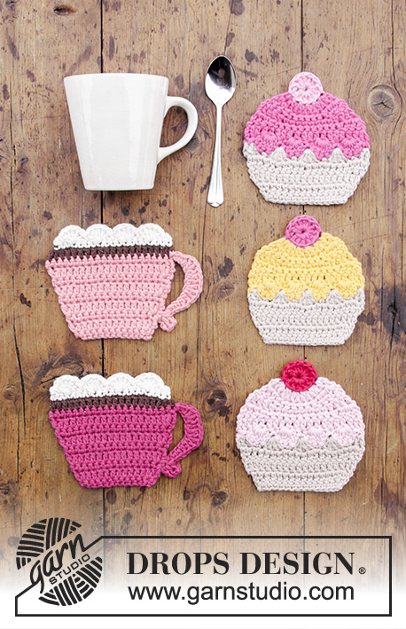 Breakfast Cupcakes Free Crochet Pattern Coaster