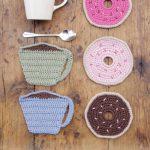 Breakfast Doughnuts Free Crochet Pattern Coaster