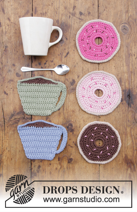 Breakfast Doughnuts Free Crochet Pattern Coaster