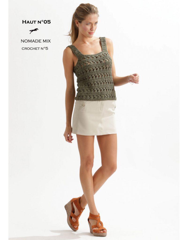 Cute Tank Top Free Crochet Pattern