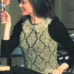 Diamond Crochet Sleeveless Top Free Pattern