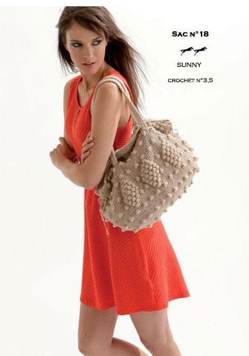 Free Crochet Bobble Hand Bag Pattern