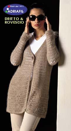 Long Mesh Net Cardigan to Crochet for Free