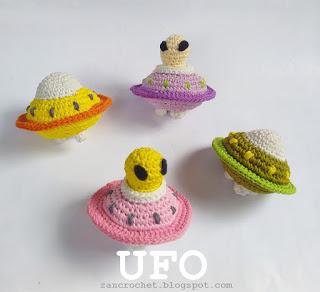 UFO Free Crochet Amigurumi Pattern