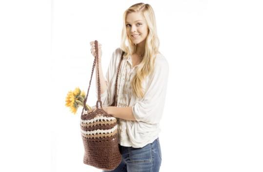 Woods Crochet Market Bag Free Pattern